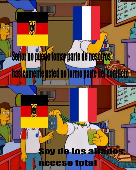 Francia, la cuna de los envidiosos en tal momento - meme