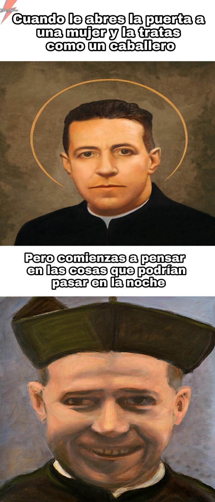 """""""San"""" Alberto Hurtado - meme"""