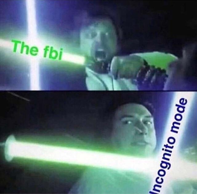 Incognito Is Bae - meme