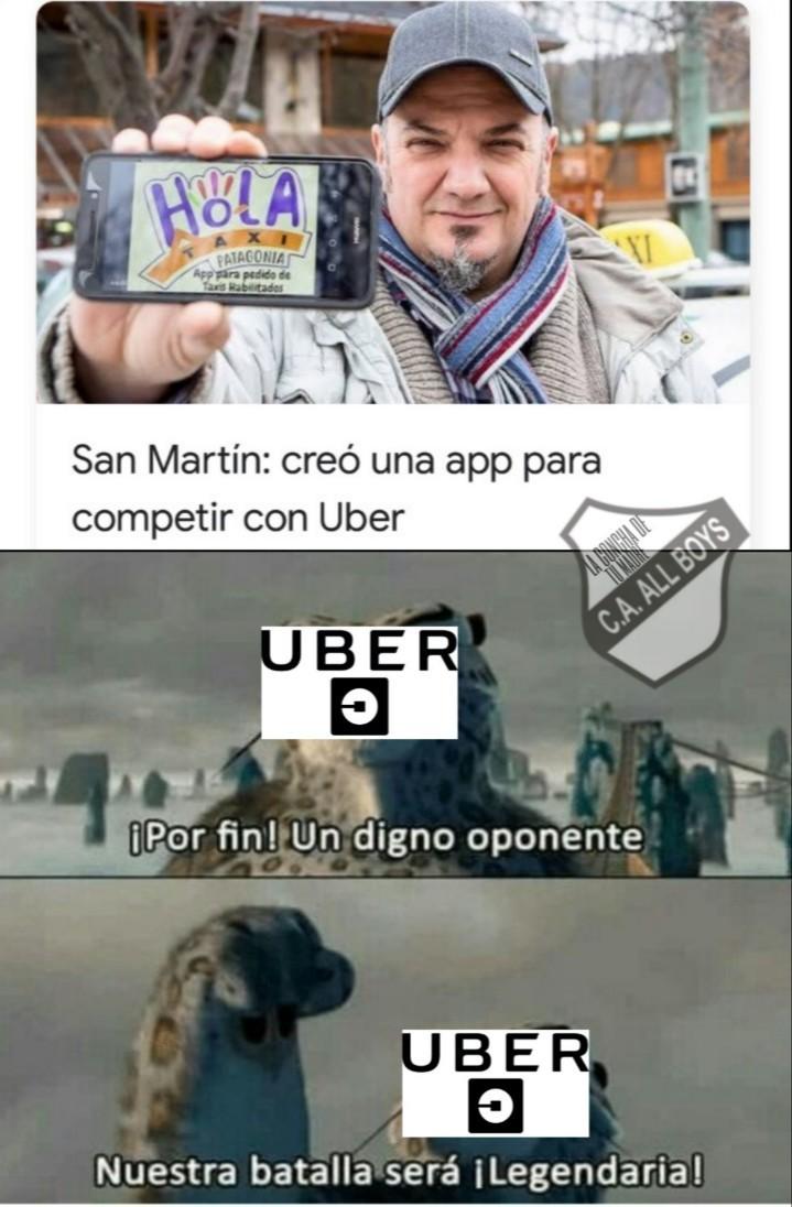 Uber vs taxi batalla legendaryyy!!! - meme