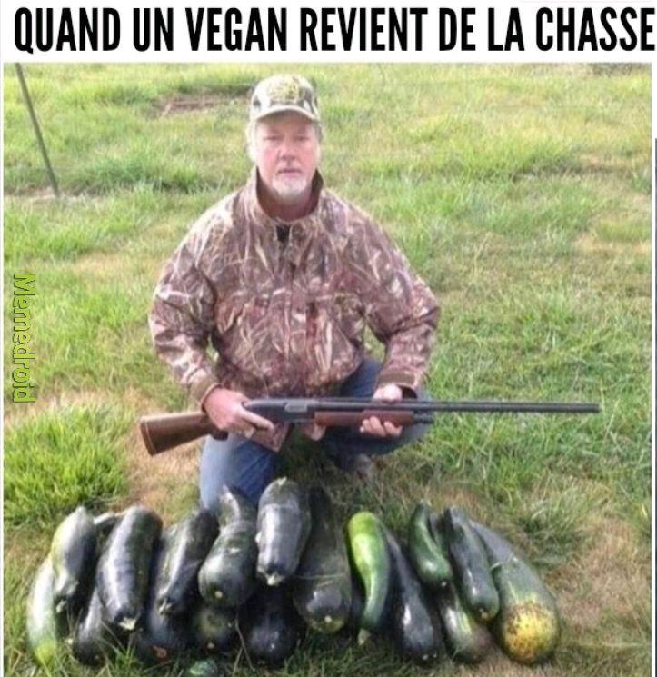 Le vegan chasseur - meme