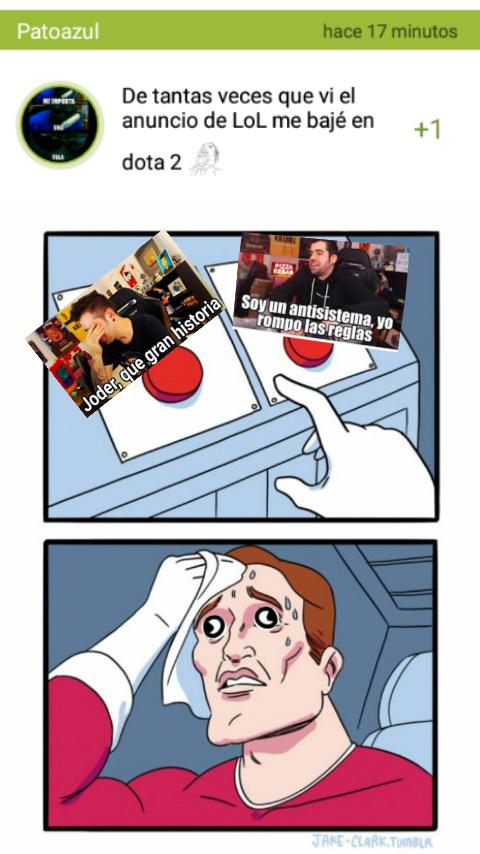 Dilema existencial - meme
