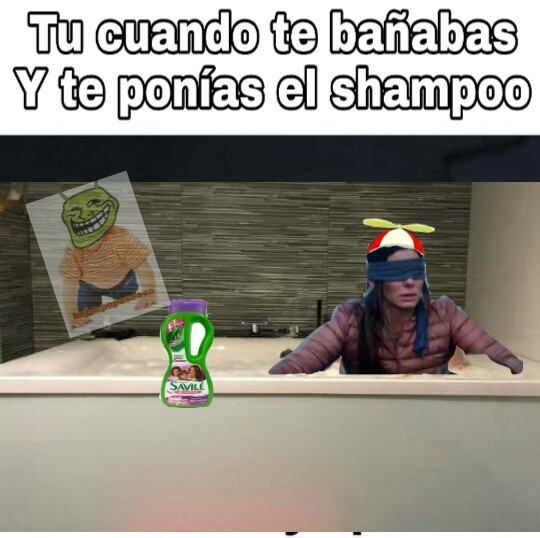 Se me ocurrió en el baño - meme