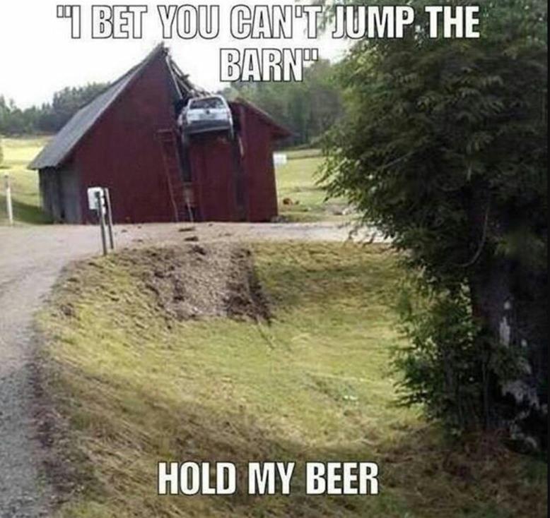 Barns and beer - meme
