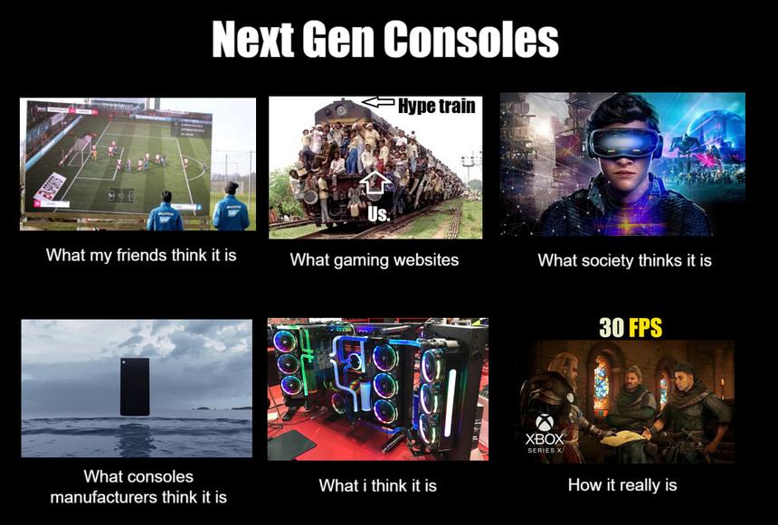 Next Gen Consoles - meme