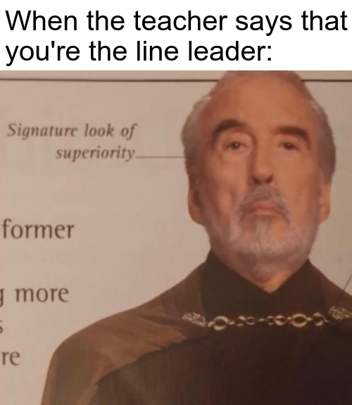 Which is better, line leader or caboose? - meme