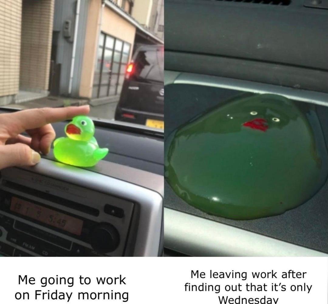 Haha work sucks - meme