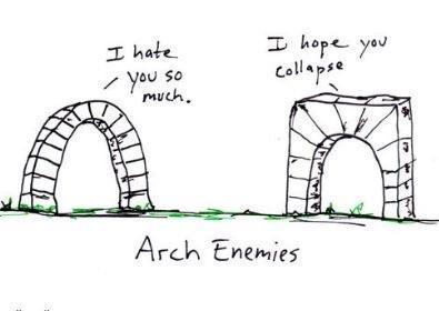 Arch enemies - meme