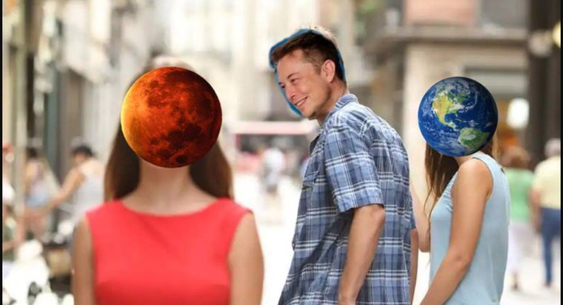 Keep your eyes to yourself elon - meme