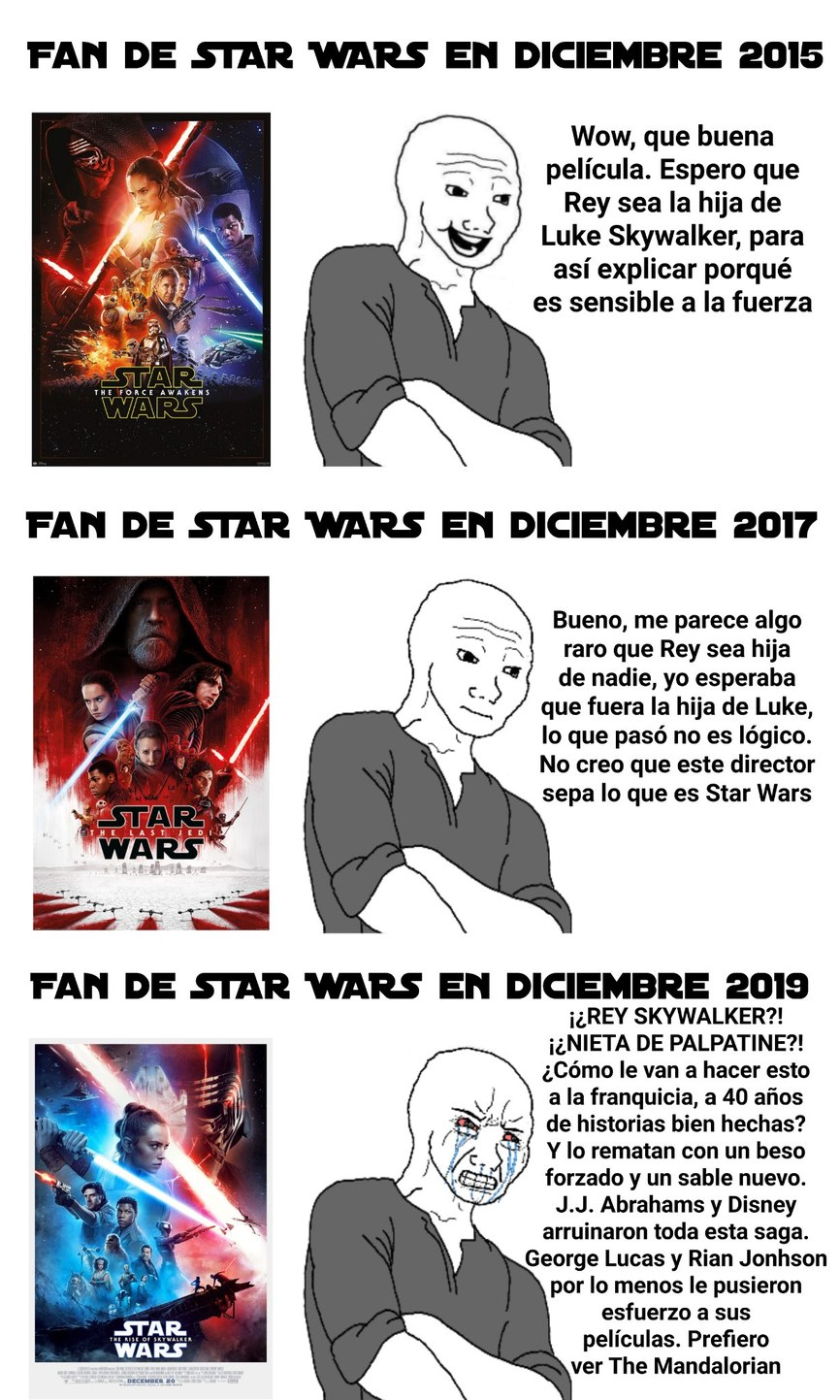 Star Wars murió - meme