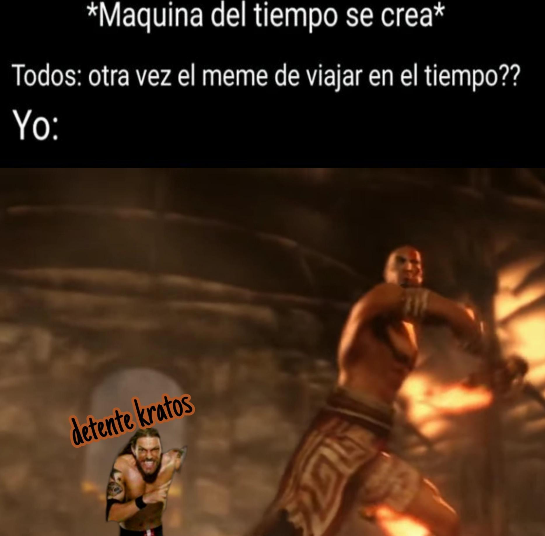Pero kratos no lo mataría en el acto ¯\_(ツ)_/¯ - meme