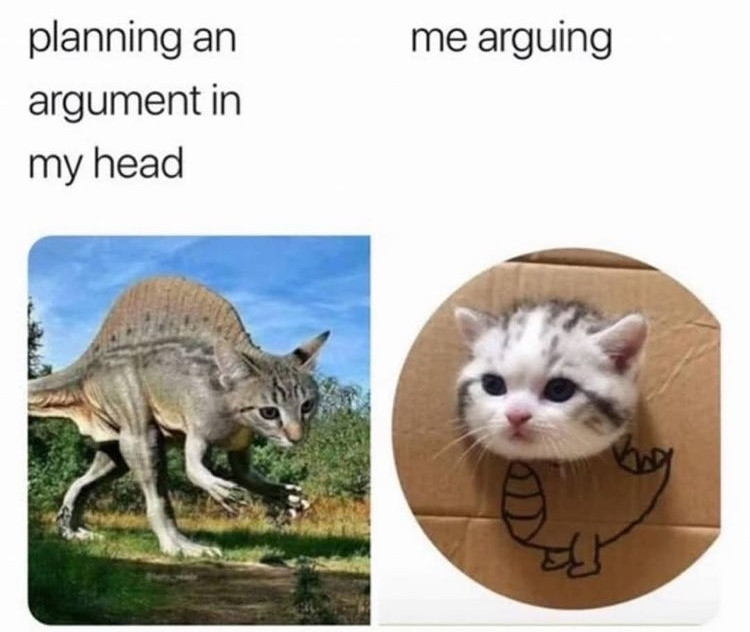 me arguing - meme