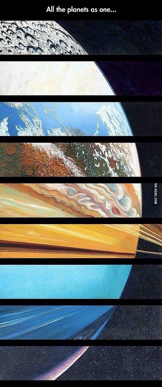 Todos Los planetas como uno - meme