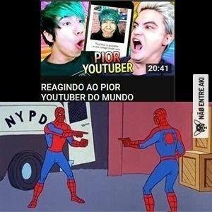 O tiulo foi assistir Felipe Neto - meme