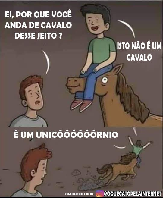Como cavalgar um unicórnio - meme