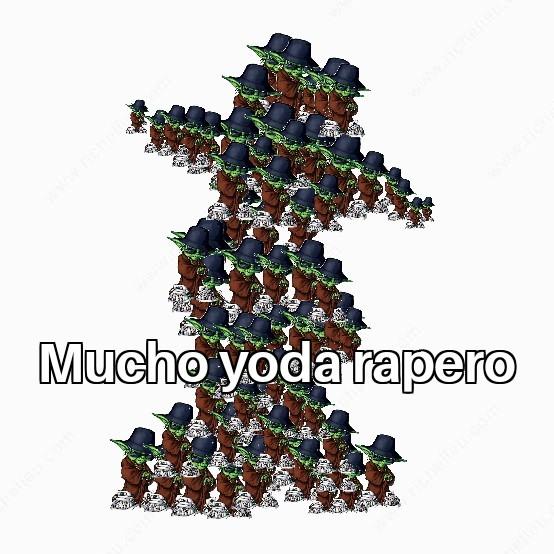 Mucho yoda rapero - meme