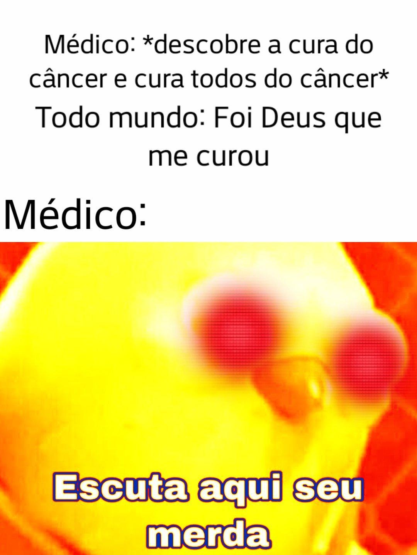 Titulo pegou câncer - meme