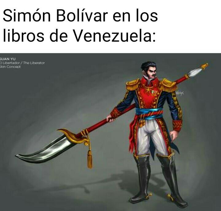 Viva Bolívar y Viva el Imperio Español - meme