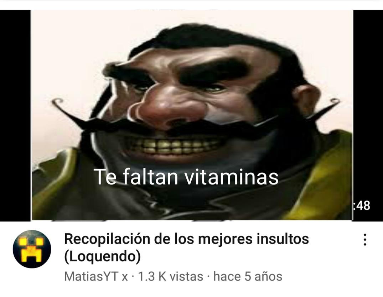 Te faltan vitaminas - meme