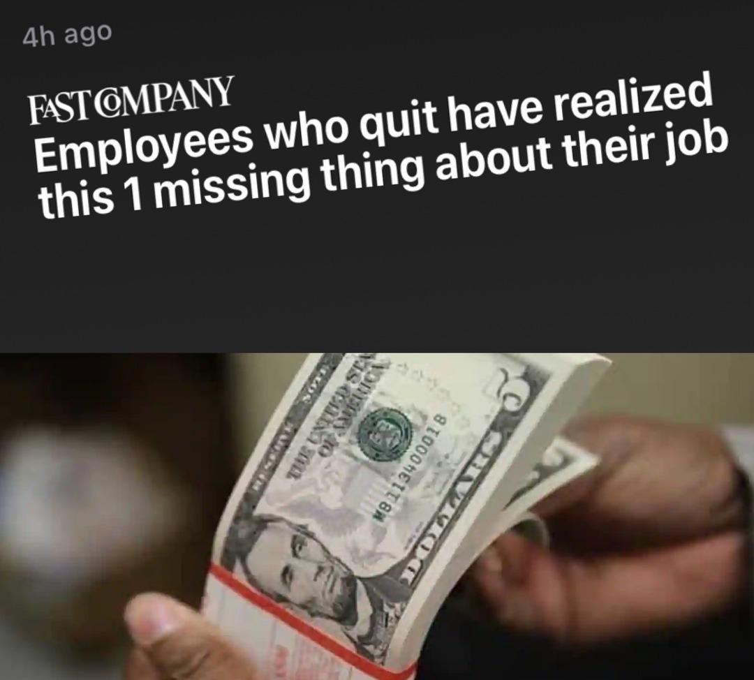 I only work for joy & fulfillment - meme