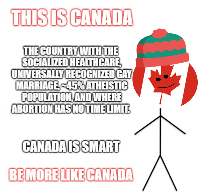 Be like Canada - meme
