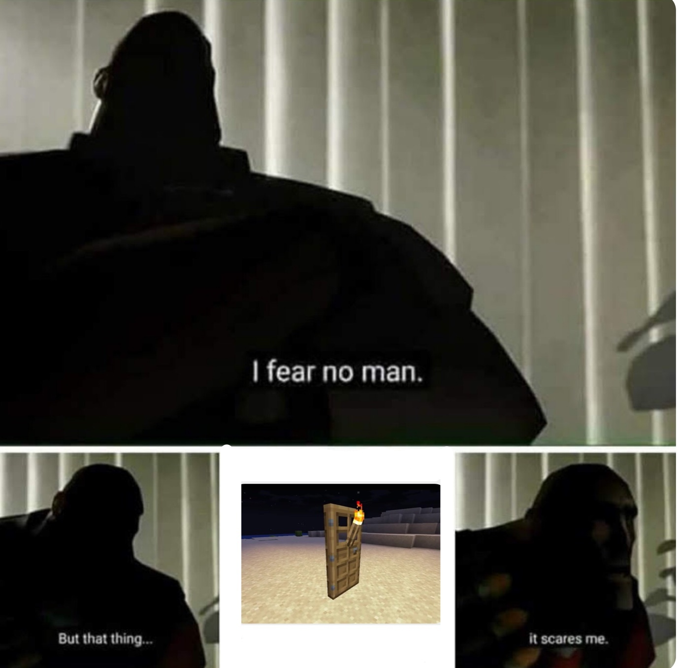 Torch on door - meme