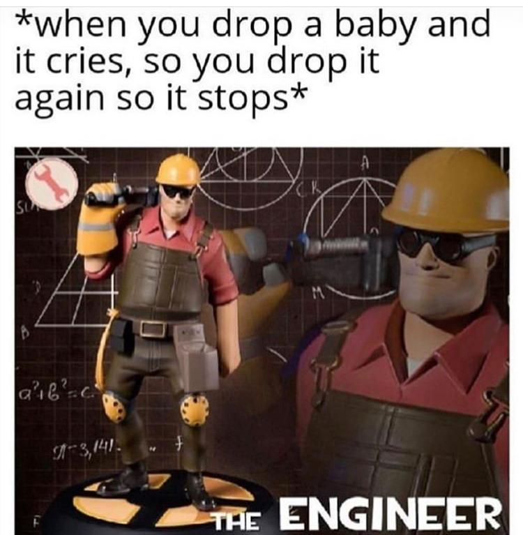Quando você derruba um bebê e ele começa a chorar e mas derruba  denovo e ele para - meme