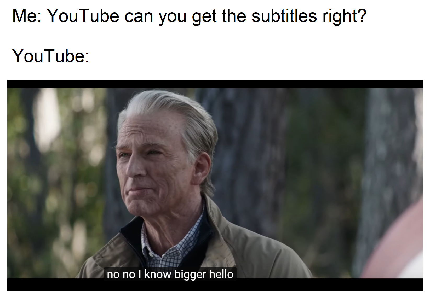 Can YouTube get the subtitles right? - meme