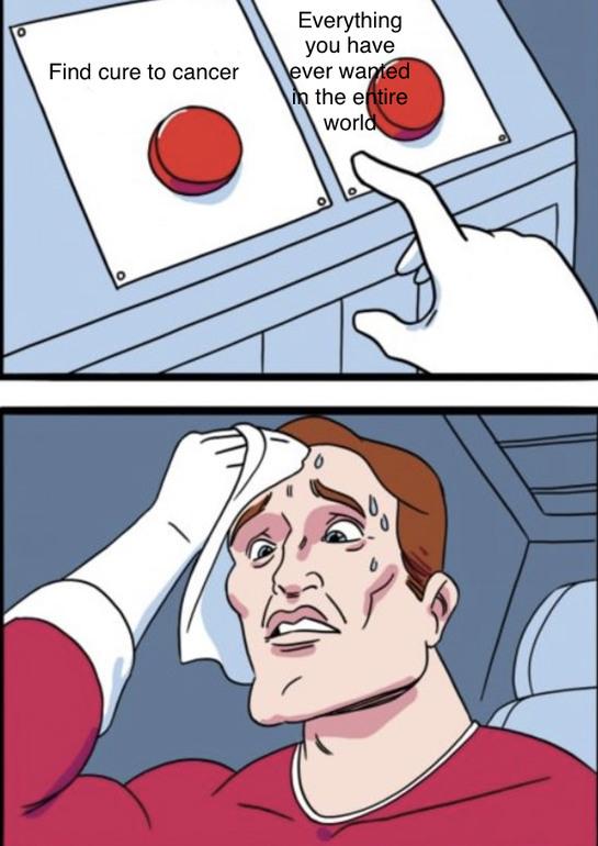 First button - meme