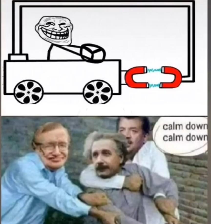 Einstein en sueur - meme