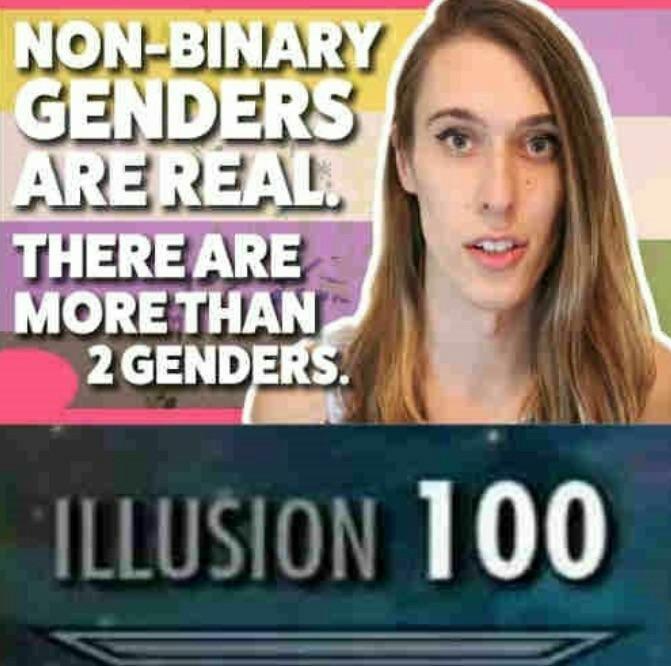 """""""Not having a gender is still having a gender"""" - meme"""