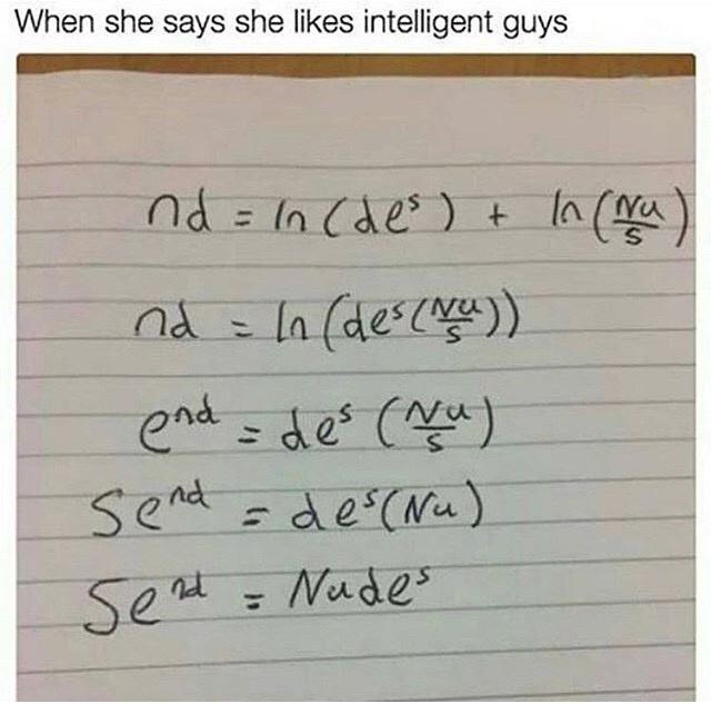 Quand t'es un génie en maths - meme