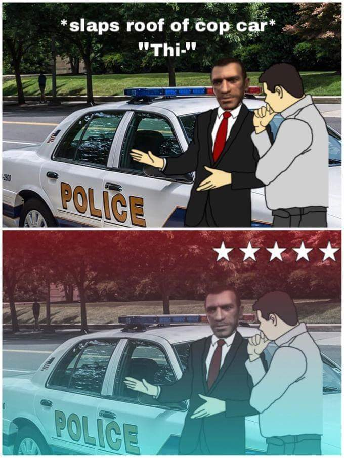 Police on gta 4 and 5 are such pussy, i like gta sa police better - meme