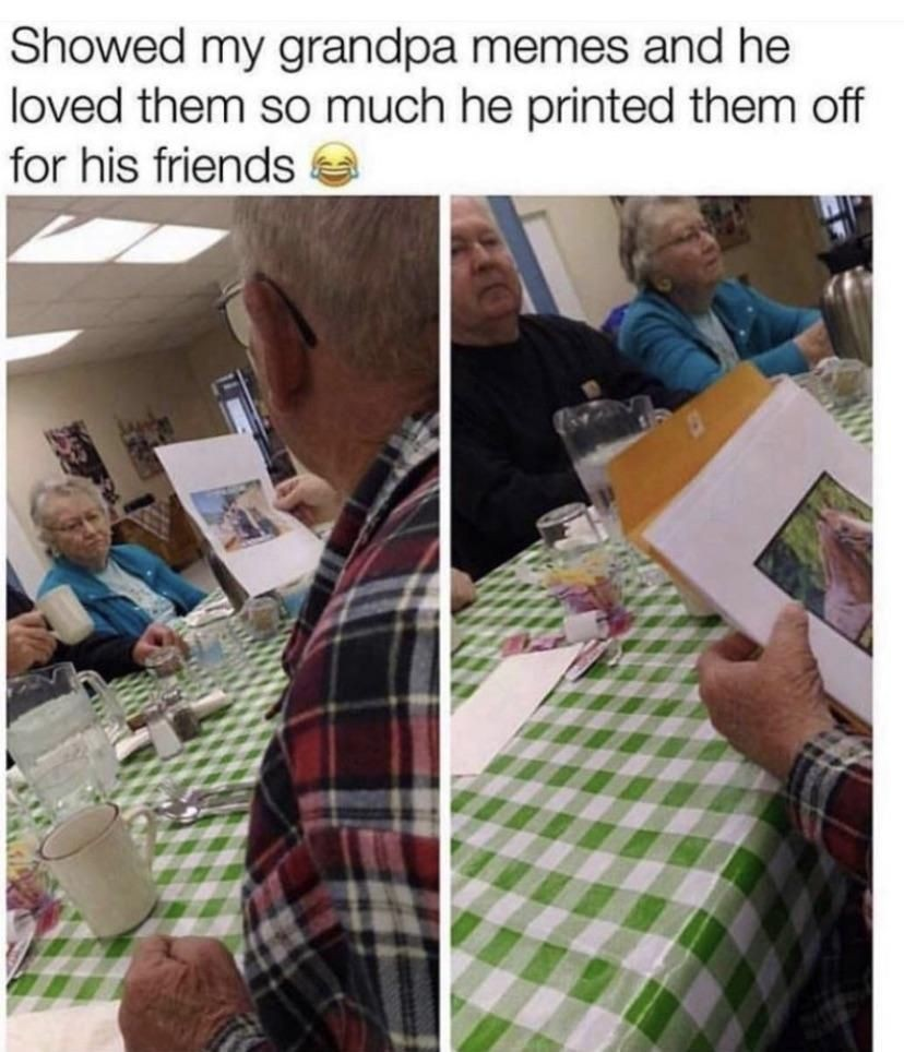 Old people are adorable - meme