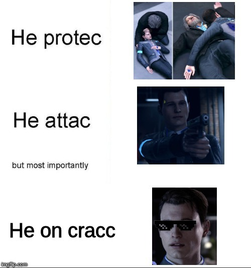 Connor The Android Sent By Cracc - meme