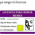 ya tengo mi propia licencia