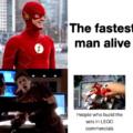 Então ele não é o homem mais rápido do mundo...