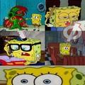 Para encontrar el episodio y las imágenes para hacer la plantilla tienen que buscar bob esponja pensando y duermetei molusco