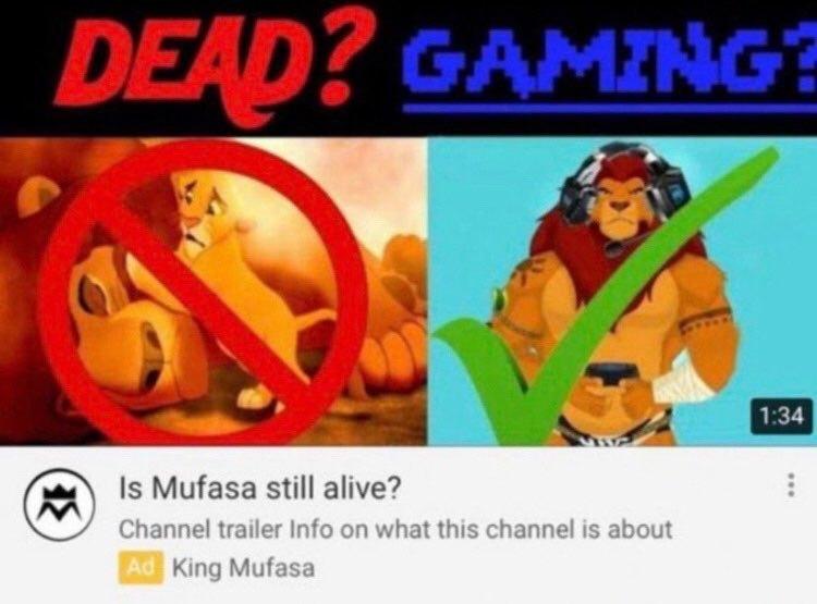 Mufasa Gaming - meme