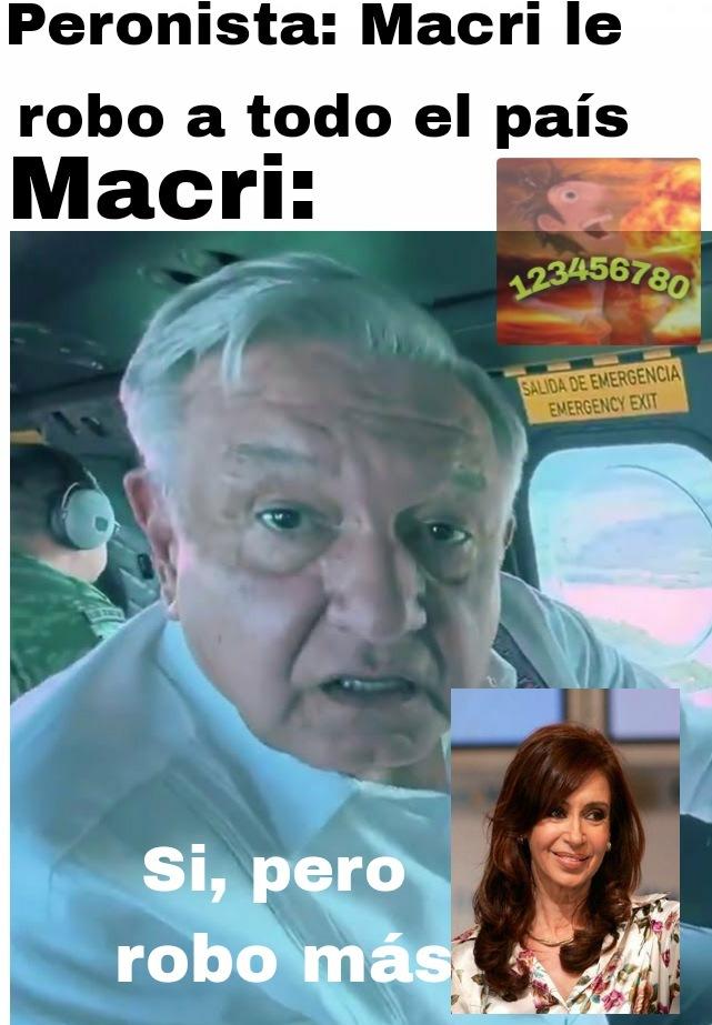 Argentinos: Bienvenidos a... Quien Roba Más - meme