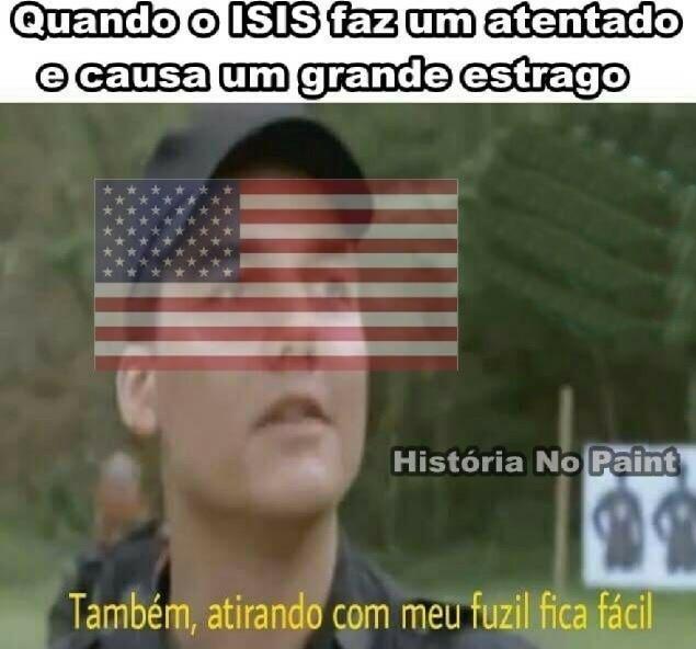 Me chama de Estados Unidos e me USA - meme