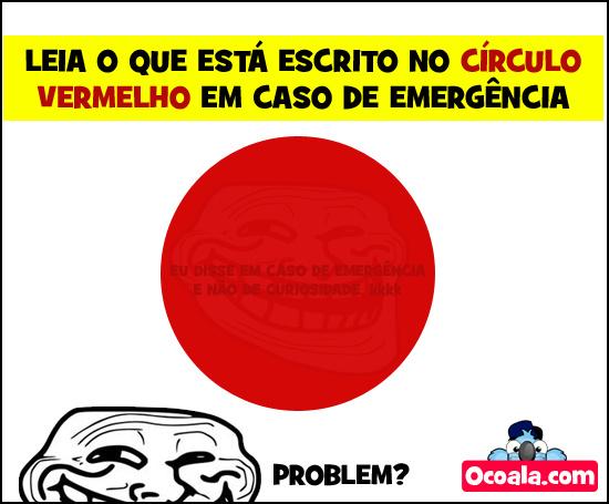 Não olhe para o circulo vermelho - meme