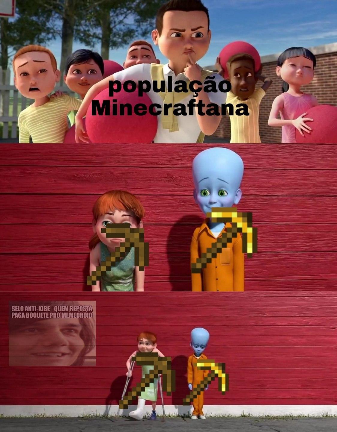 F para a picareta de ouro - meme