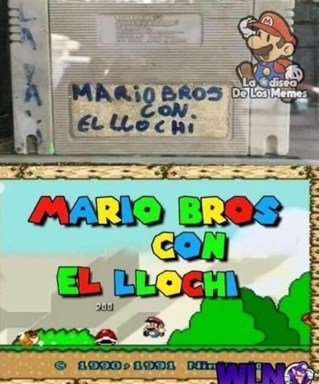 MARIO BROS CON EL LLOCHI - meme