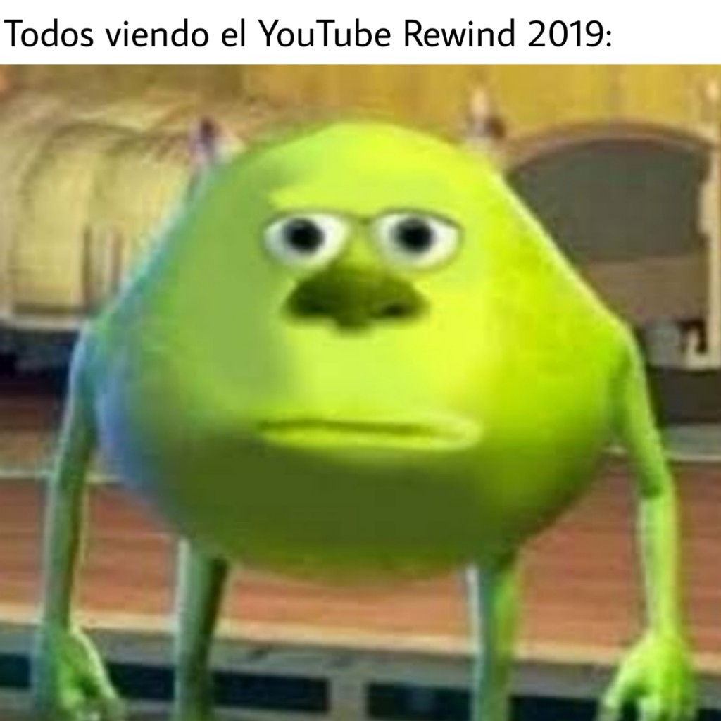 Bienvenidos a WatchMojo, digo al YouTube Rewind 2019 - meme