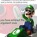 Luigi looks down upon earth.
