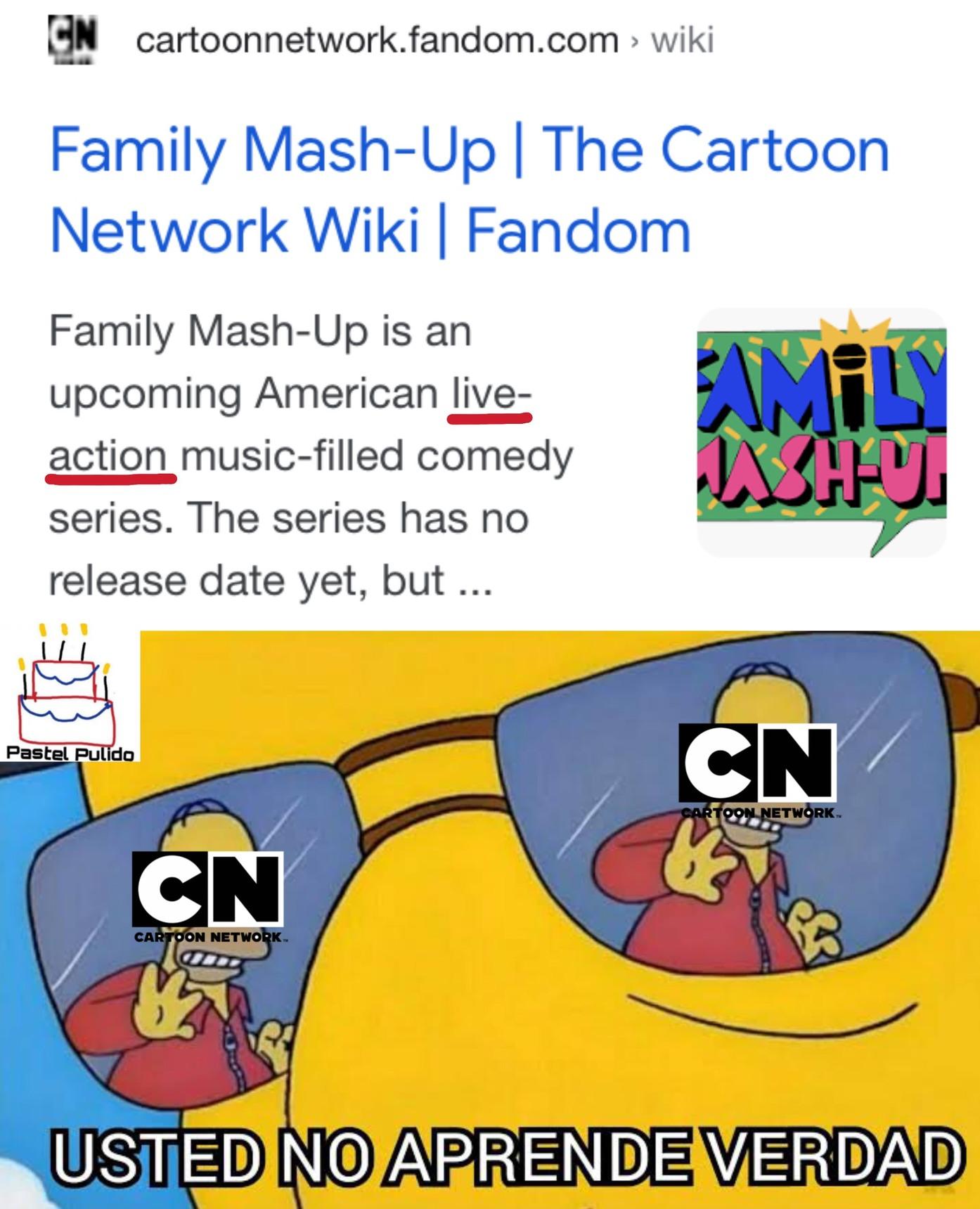 Contexto: Cartoon Network quiere hacer live-actions OTRA VEZ :facepalm: - meme