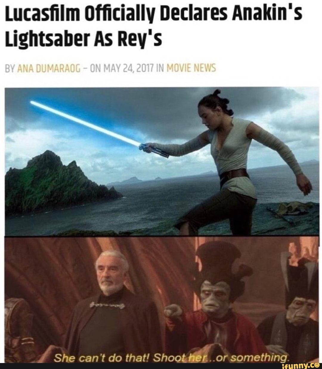 REY IS A PALPATINE - meme