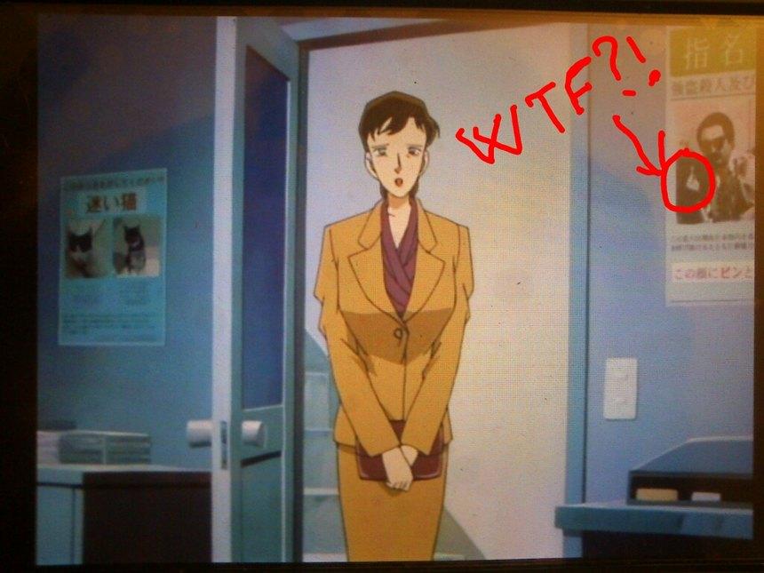 En el episodio 96 del Detective Conan - meme