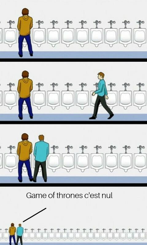 Attention je lis ET regarde game of thrones même si c'est loin d'être ma série preferee - meme